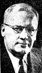 Headshot of Sam Charlson, Manhattan, KS from 1961 Manhattan Mercury.